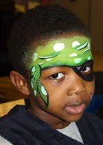 boy face-painted as pirate